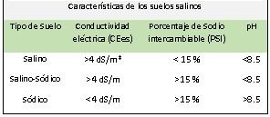 caracteristicas de los suelos salinos