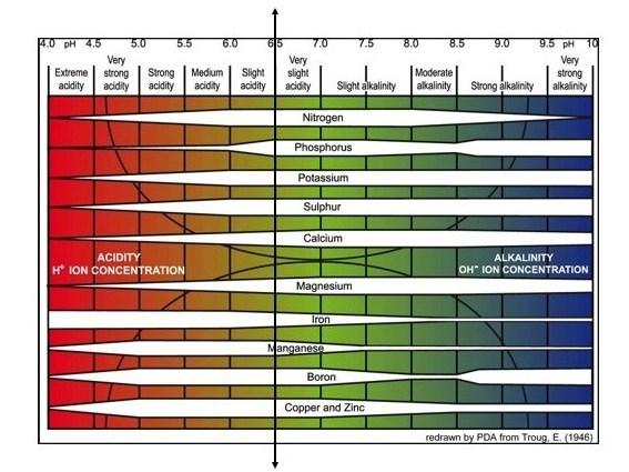 tabla de alcalinidad