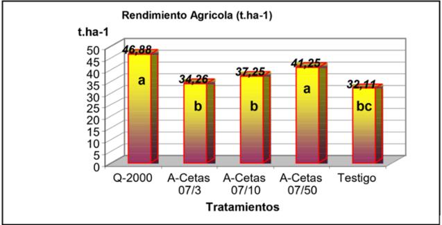 rendimiento agricola